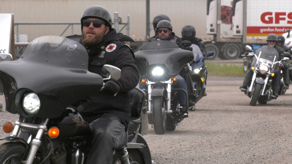 Bikers in Timmins