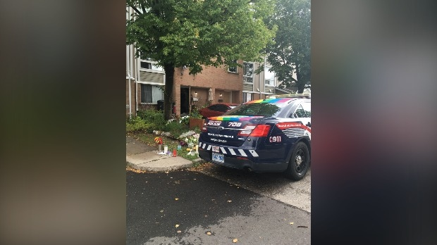 Police continue to investigate at the scene of a homicide in Cambridge (Natalie van Rooy / CTV News Kitchener)