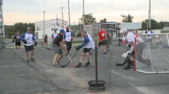 Other years, the tournament was held at the Dominion Rink in Dominion, N.S., but in order to follow health and safety protocols for COVID-19, the event was played in a parking lot this year.