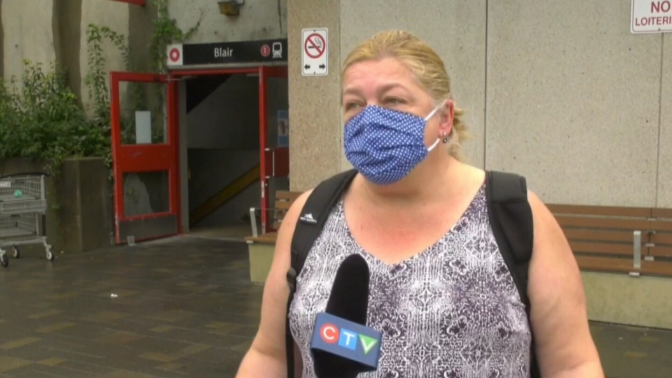 Transit user Shelia McFarland says she's lost confidence in OC Transpo and the LRT after a year of troubles on the $2.1 billion line. (Shaun Vardon / CTV News Ottawa)