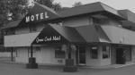 The exterior of the Grouse Creek Motel is seen in this image from its website.