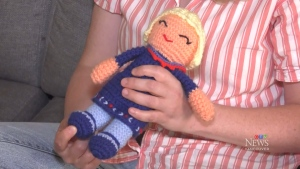 Toddler gets doll replica of Bonnie Henry