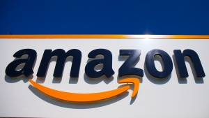 In this Thursday, April 16, 2020, file photo, the Amazon logo is seen in Douai, northern France. (AP Photo/Michel Spingler, File)