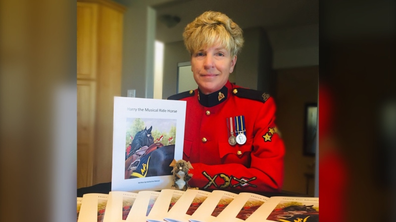 Retired Mountie Katherine Hansen, shown in a handout photo, was overjoyed when she was offered a second stint in the RCMP's iconic Musical Ride this summer, but they were dashed in March when just days before she was to join the team, COVID-19 forced the cancellation of the tour season. THE CANADIAN PRESS/RCMP HANDOUT