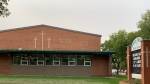 Holy Cross High School is shown in this file photograph.
