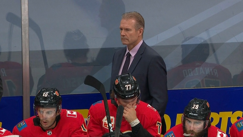 The Calgary Flames have named Geoff Ward as the team's head coach heading into the 2020-2021 season (file)