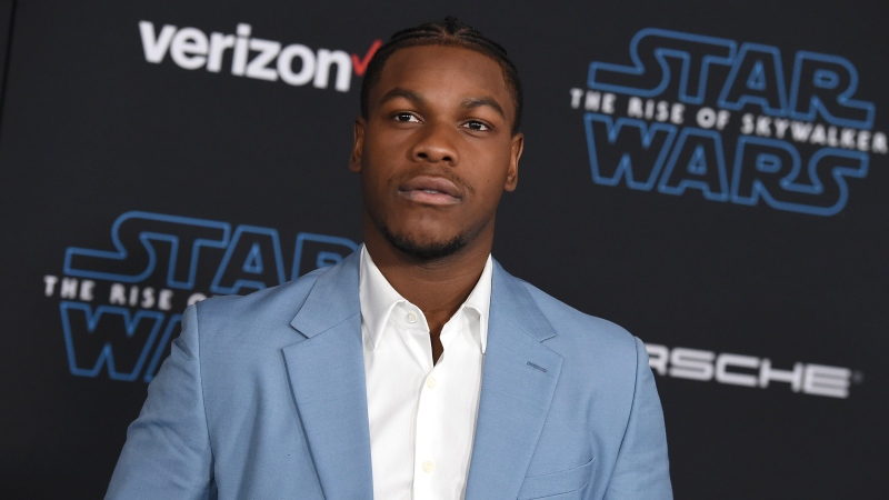 "In this Monday, Dec. 16, 2019 file photo, John Boyega arrives at the world premiere of ""Star Wars: The Rise of Skywalker"" in Los Angeles. (Jordan Strauss/Invision/AP, File)"