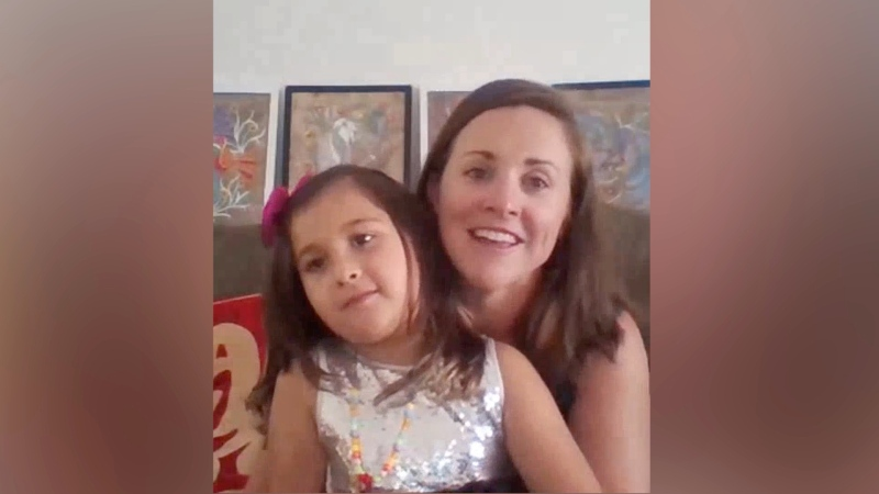 Izel Lopez-Daley and her mom Rachelle Daley chat with CTV News via Skype. (Peter Szperling / CTV News Ottawa)