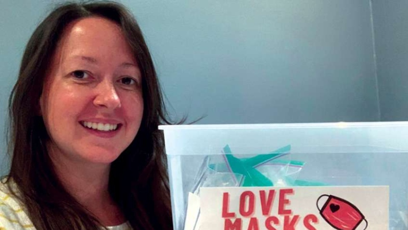 Rachel Thomas started the 'Love Masks' campaign after she noticed that access to face coverings may be limited for some students returning to school.