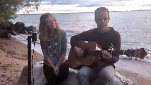 From Lake Nipissing in North Bay, Aimee and Sean Dayton cover, 'What a Wonderful World.'