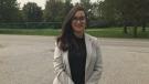 Ward 7 candidate Farah El-Hajj in Windsor, Ont., on Monday, Sept. 14, 2020. (Rob Hindi / AM800 News)