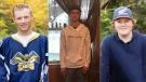 Ty Croft, 17, Kobe Curtis, 16 and Denver Jardine, 17 were killed in a car crash in Blackville early Sunday. (Photo via: Village of Blackville)