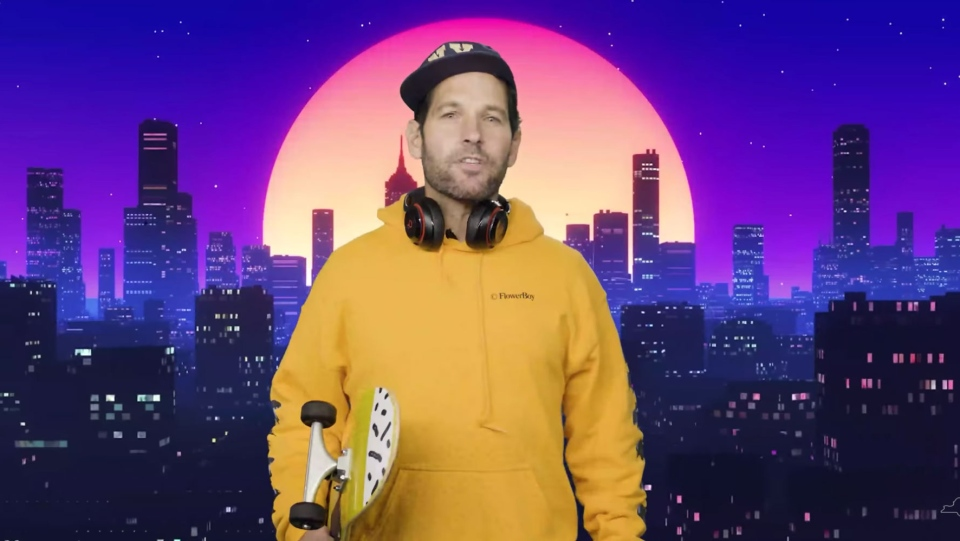 Paul Rudd, ]certified young person,' wants you to wear a mask. (New York State / CNN)