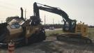 Banwell Road construction in Windsor, Ont., on Sept. 15, 2020. (Rich Garton / CTV Windsor)
