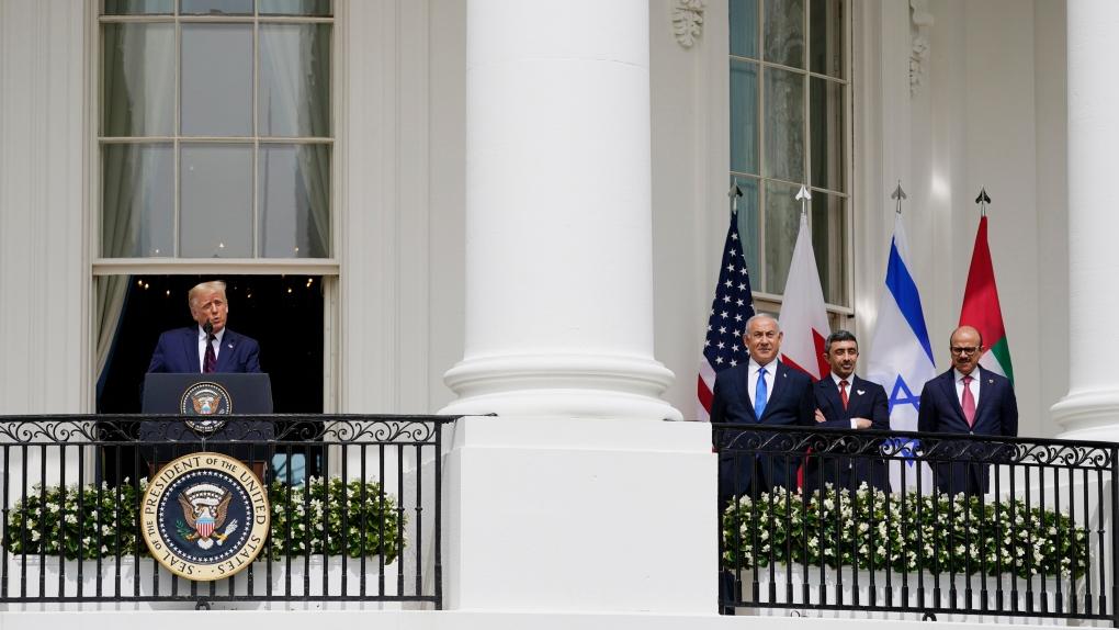 Donald Trump, Israeli PM, UAE Minister
