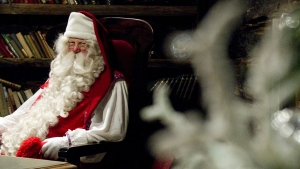 Santa Claus is shown in his North Pole office in this file photo. (THE CANADIAN PRESS)