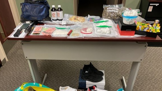 Items seized in a raid by OPP in Watford Ont. on Sept. 10, 2020. (Supplied)