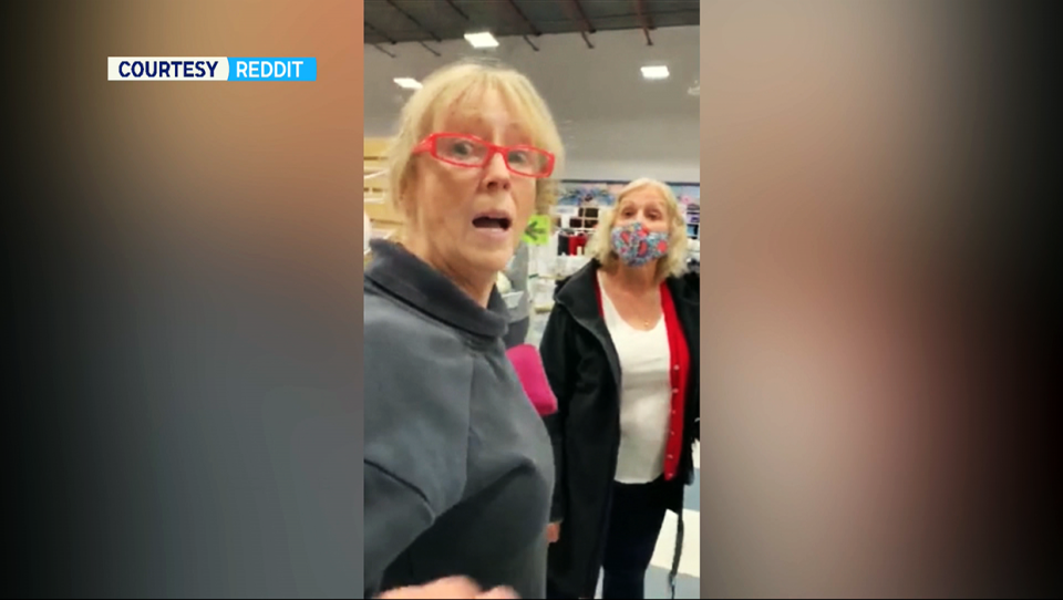 A Calgary confrontation over masks that was caught on video has gone viral. The video shows a woman at Fabricland, berating customers and staff members.