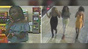 Ottawa police are looking to identify these women, whom they believe may have information about the murder of Ashton Dickson on Rideau St. on June 26, 2017. (Photos provided by the Ottawa Police Service)