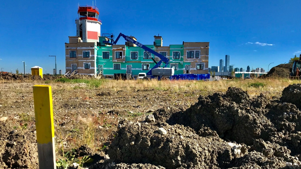 A small plot of row housing, condos and four-to six storey mixed-use buildings is included in phase one of the project. (Sean Amato / CTV News Edmonton)