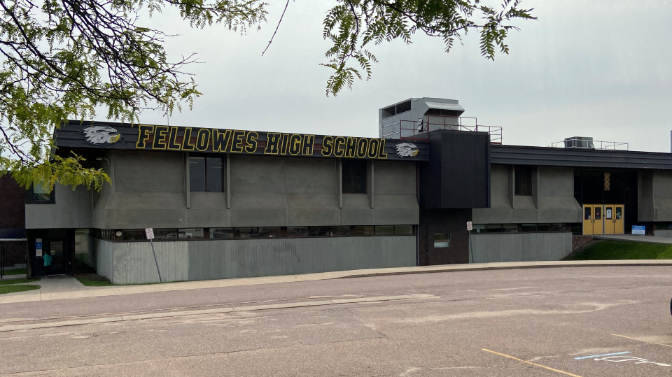 Fellowes High School in Pembroke, Ont. on Wednesday, Sept. 16, 2020. (Dylan Dyson/CTV News Ottawa)