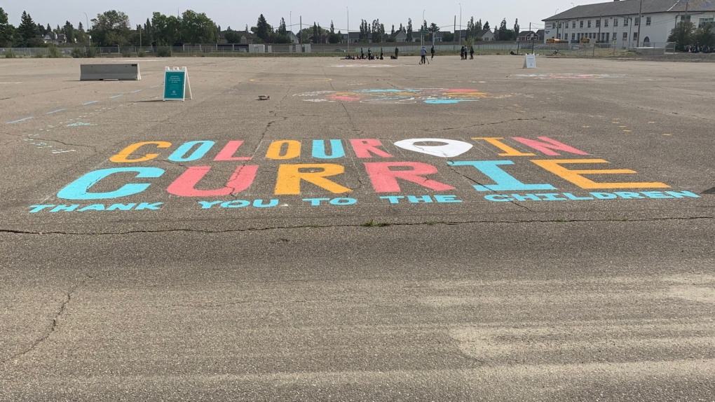 Calgary Currie chalk art