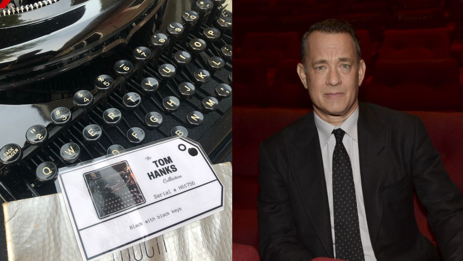 Tom Hanks and typewriter