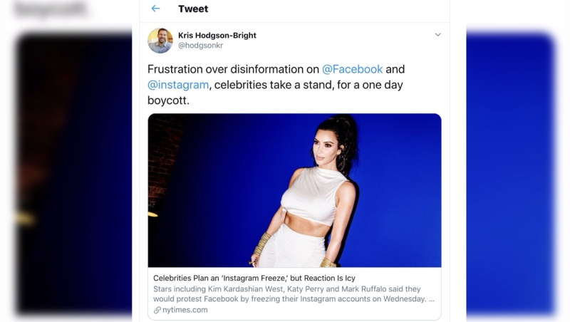 A Lethbridge educator says celebrities boycotting Facebook and Instagram for 24 hours was good, but more needs to be done.