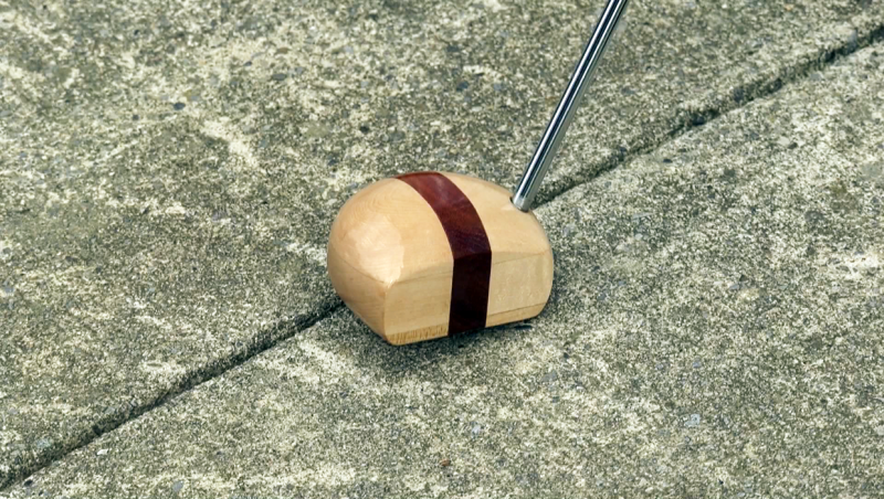 Finishing carpenter Todd Landsiedel is finding a market for his new line of wooden head putters, attracting orders from Boston, New Jersey and Germany