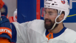 Jordan Eberle, a former Regina Pat, celebrates after scoring a 2OT winner in the 2020 Stanley Cup Playoffs. (Sportsnet)