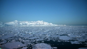 The gigantic ice caps contain enough frozen water to lift oceans 65 metres. (AFP)