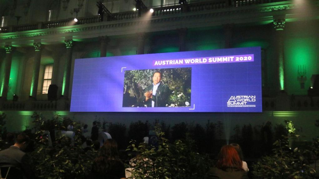 At the 'Austrian World Summit' in Vienna
