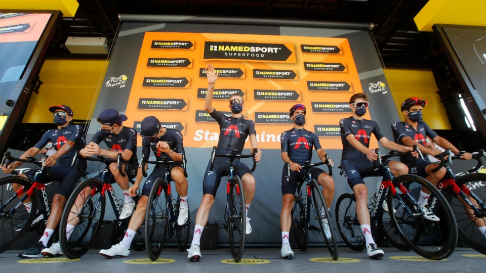 Team Ineos at the Tour de France