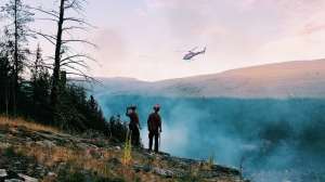 More than 200 B.C. firefighters and related-personnel are being deployed to the U.S. to help battle wildfires, and 200 more may be sent in the near future: (BC Wildfire Service / Facebook)