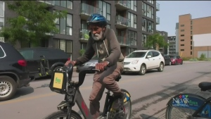 A Montreal man has started riding a Bixi every day throughout the pandemic, adding up to 2,400km and counting – celebrating as he turns 87.