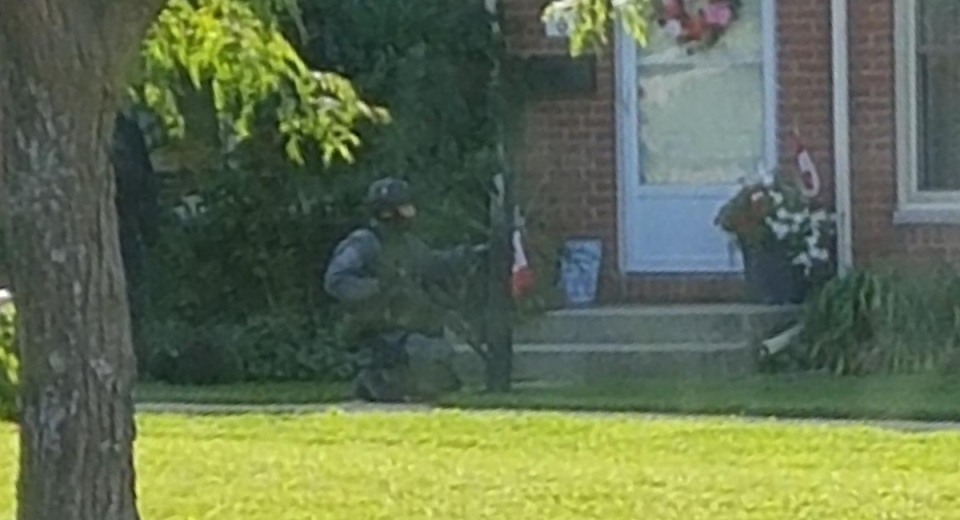 London police at townhome
