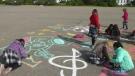 Massive chalk art display in Calgary