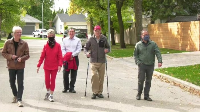 Dr. Douglas MacEwan is walking 1 kilometre a day for 96 days.