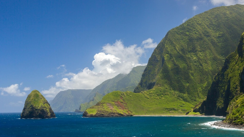 The world tallest sea cliffs of Molokai, Hawaii. (Shutterstock)
