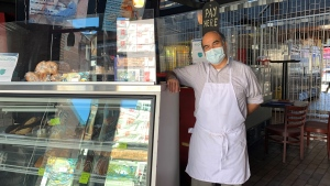 It's the final month of business for Santiago Diaz, owner of Continental Bagel Co. (Saron Fanel/CTV News Ottawa)