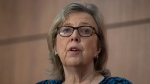 Elizabeth May, former leader of the federal Green Party, in a file photo (THE CANADIAN PRESS / Adrian Wyld).