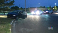 Four charged after police chase