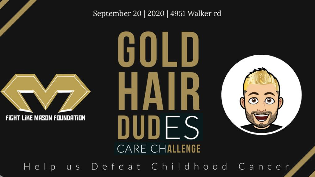 Gold Hair Dudes Care Challenge