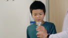 Researchers in B.C. have developed a new testing method for COVID-19 that doesn't require a nasal swab. (Provincial Health Services Authority/YouTube)