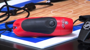 An electronic whistle made by Fox 40, a Canadian company based in Hamilton, Ont., is seen here.