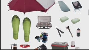 Renting a camping kit