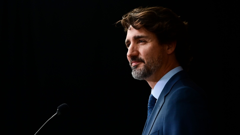 Prime Minister Justin Trudeau holds a closing press conference on the third and final day of the Liberal cabinet retreat in Ottawa on Wednesday, Sept. 16, 2020. THE CANADIAN PRESS/Sean Kilpatrick