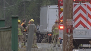 One person has died as a result of a two-vehicle crash just north of Courtenay Thursday night. (CTV)