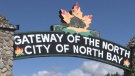 City of North Bay sign.