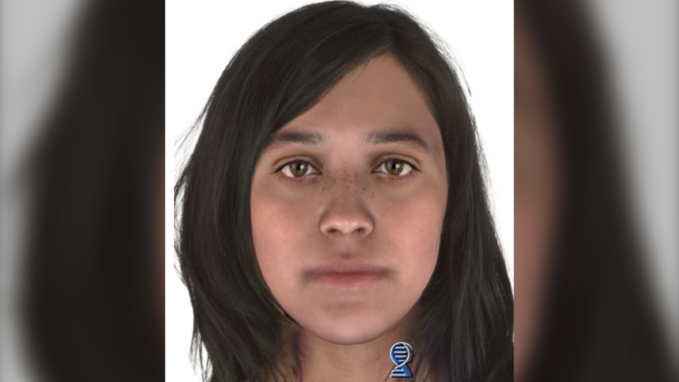 A composite photo created using DNA on a bag found last fall with a dead infant resting inside. (Saskatoon Police Service)